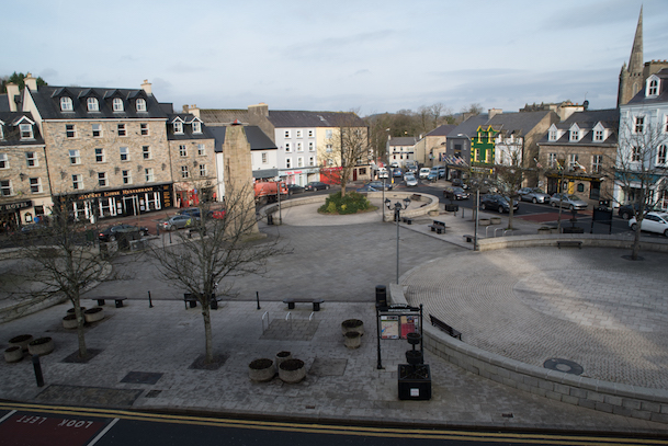 View overlooking the Diamond, Donegal Town